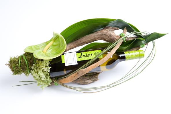 Wijn en bloemen
